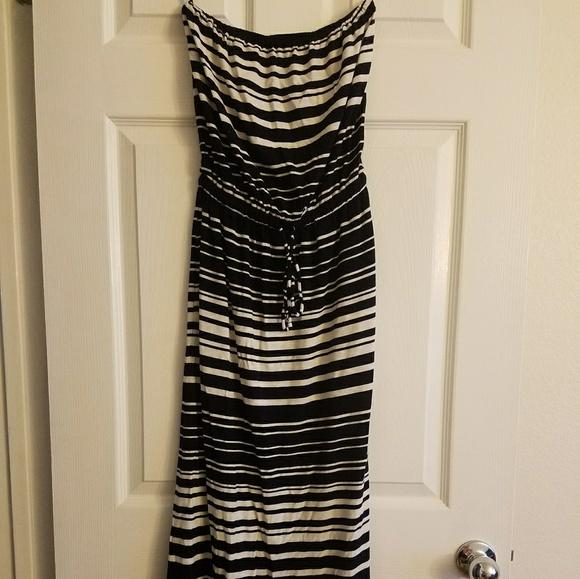 J. Crew Dresses & Skirts - XXS J.Crew Strapless Striped Maxi Dress